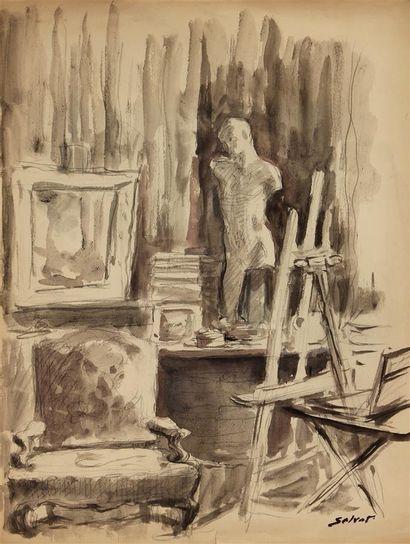 FRANÇOIS SALVAT (1892-1976) L'atelier du...