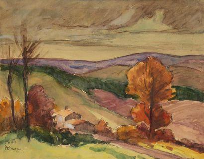 J. MARIO PÉROUSE (1880-1958) Automne près...