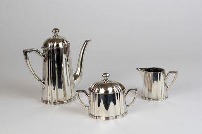 SERVICE à thé en argent, modèle contours...