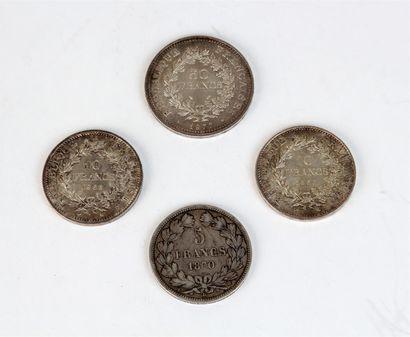 BOÎTE en argent guillochée rectangulaire...