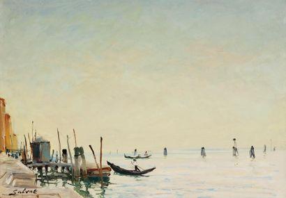 FRANÇOIS SALVAT (1892-1976) Venise Huile...