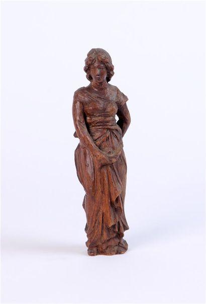 STATUETTE en bois sculpté représentant une...