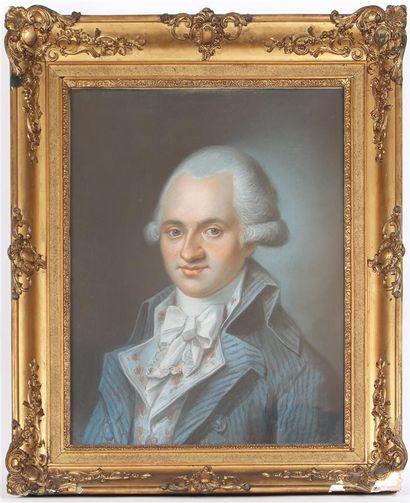 ÉCOLE FRANCAISE VERS 1780 Portrait d'homme...