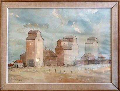 RIEDENBERG, XXème siècle Vue d'une ferme...