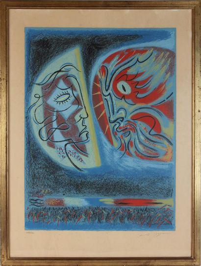 André MASSON (1896-1987) Les deux masques...