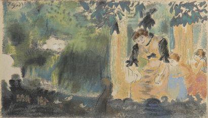 D'apres Edgard DEGAS (1834-1917). «Mademoiselle...