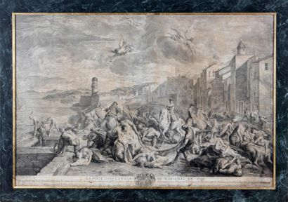 D'après DE TROY La peste de la ville de Marseille...