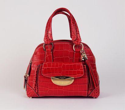LANCEL, modèle Adjani SAC en cuir rouge imitation...