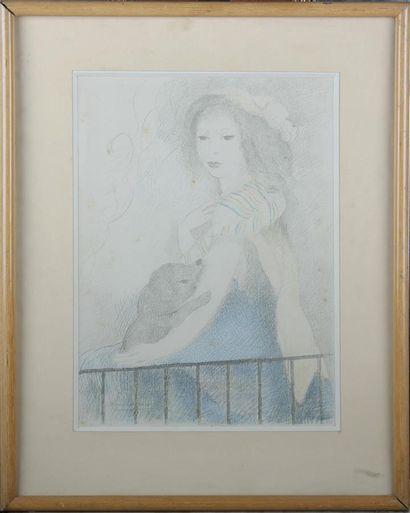 D'après Marie LAURENCIN (1883-1956). Jeune...