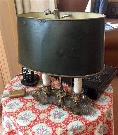 Petite LAMPE bouillotte à deux lumières,...