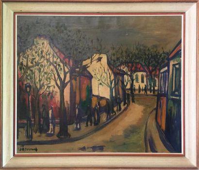 ÉCOLE MODERNE Rue de Montmartre Huile sur...
