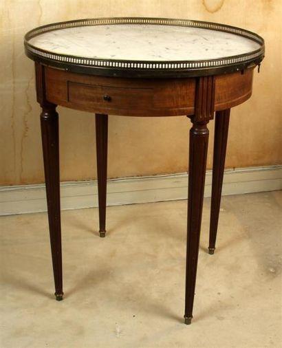 TABLE BOUILLOTTE en bois naturel ouvrant...