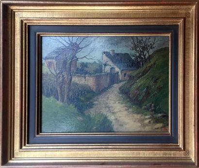 BOUZON (XXe siècle) Vue d'une maison au creux...