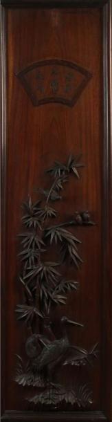 PANNEAU décoratif en bois sculpté à décor...