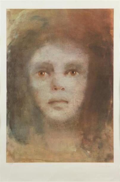 LÉONOR FINI (1907-1996) Visage Lithographie...