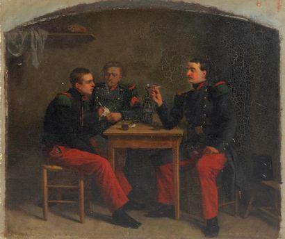 LÉON JOSEPH BILLOTTE (1815-1886) Soldats...