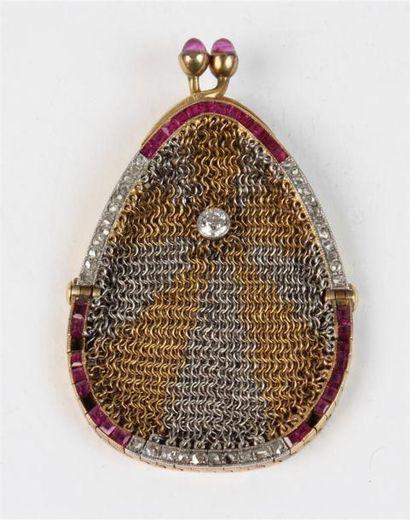 Petite BOURSE pendentif en or 18k (750 °/°°)...