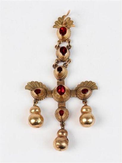 PENDENTIF croix en métal doublé articulé...