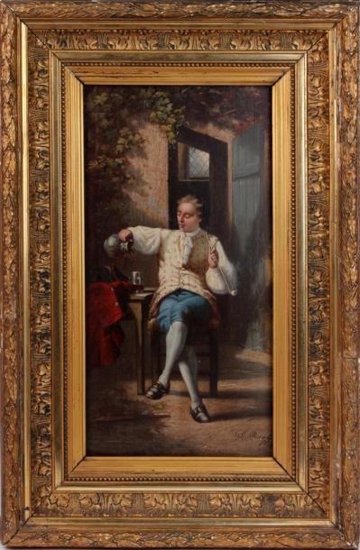 A RUEFF (XIXe-XXe SIÈCLE) Le fumeur de pipe...