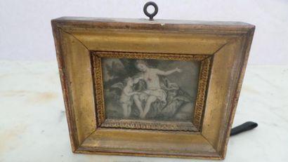 ÉCOLE FRANÇAISE DU XIXe SIÈCLE Portrait de femme au collier de corail Miniature...