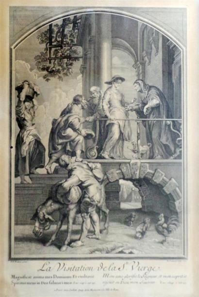 D'APRÈS RUBENS, par JEAURAT La visitation de la Sainte Vierge D'après Le Brun par...