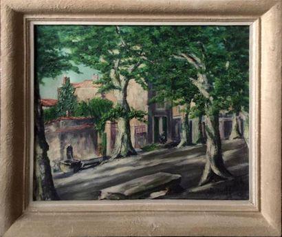 BORODZITCH La place arborée, rue de Mausanne...