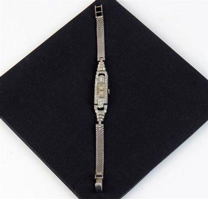 MONTRE bracelet de dame en or gris 18k (750...