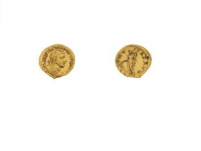 URANIUS ANTONIN (253-254) Auréus (253-254). Emèse. 6,20 g. Son buste lauré, drapé...