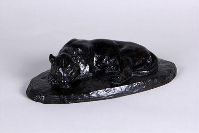 D'APRES ANTOINE-LOUIS BARYE (1795-1875) Jaguar...