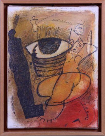 MICHAËL RIEU (NÉ EN 1953) Composition à l'oeil...