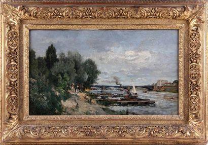 ALEXANDRE RENÉ VÉRON (1826-1897) Bord de...