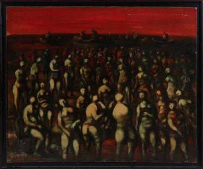 SYLVAIN VIGNY (1903-1970) La foule à Venise...