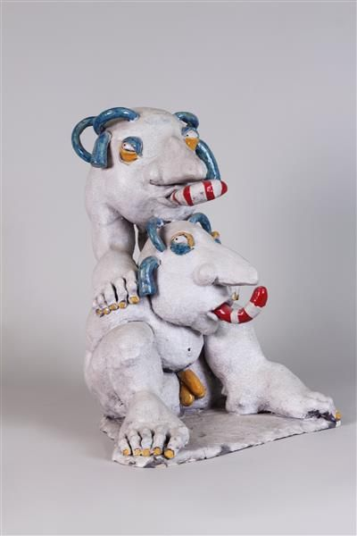 EVELYNE HENRARD (NÉE EN 1953) Sculpture en...
