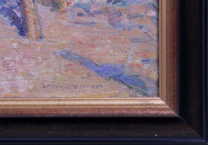 LOUIS DENIS-VALVERANE (1870-1943) Le verger d'orangers Huile sur toile, signée en...