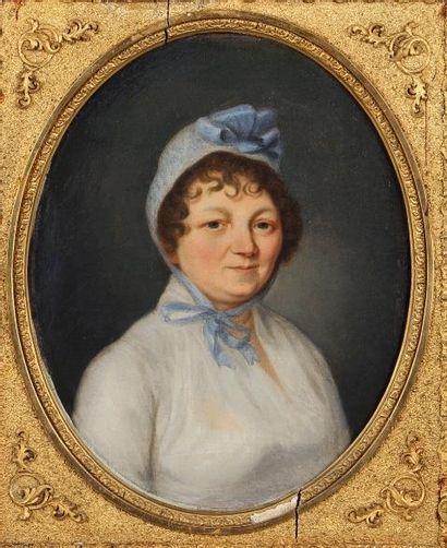 ÉCOLE FRANÇAISE DU DÉBUT DU XIXe SIÈCLE Portrait...