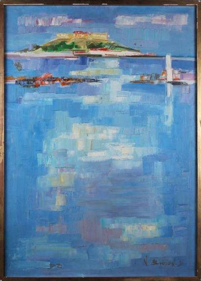 JEAN BRISSON-DUVAL (1931-1999) Le port d'Antibes...
