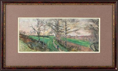 LUDOVIC PIETTE (1826-1877) Chemin de campagne...