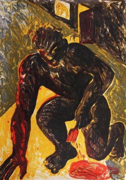 MIQUEL BARCELO (NÉ EN 1957) Le peintre agenouillé...