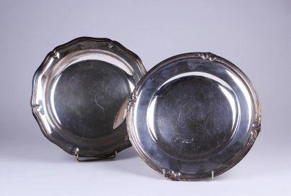 CHRISTOFLE PLAT creux circulaire en métal...