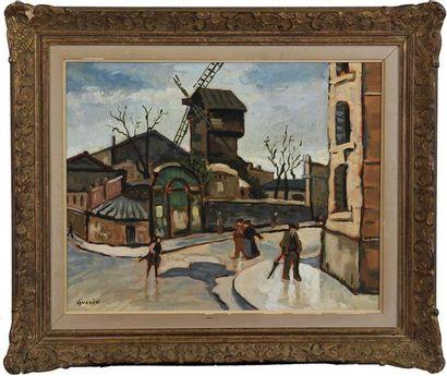 GUÉRIN Le moulin Huile sur isorel, signée...