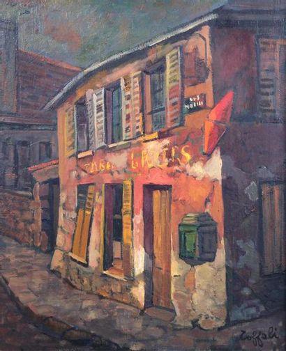 LOUIS TOFFOLI (1907-1999) Le Tabac Huile...