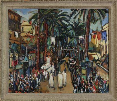 LOUIS JACQUES VIGON (1897-1985) Hyères, jour...