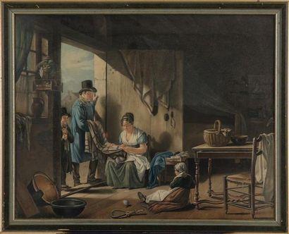 D'APRÈS DROLLING, 1812 L'heureuse famille...