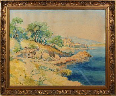 EMILE APPAY (1876-1935) Au Cap Corse Aquarelle,...