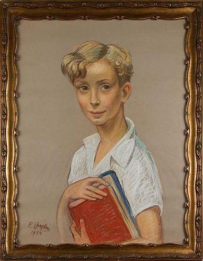 ÉCOLE MODERNE Portrait de jeune garçon tenant...
