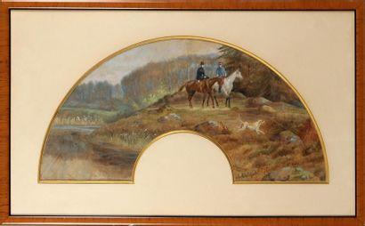 A BAYLARD (XIX-XXe SIÈCLE) Cavalière et officier...
