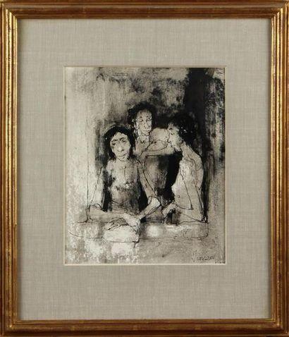 JEAN JANSEM (1920-2013) Trois femmes assises...