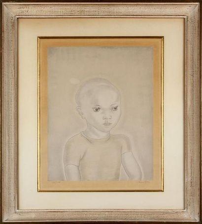 LÉONARD TSUGUHARU FOUJITA (1886-1968) Portrait...