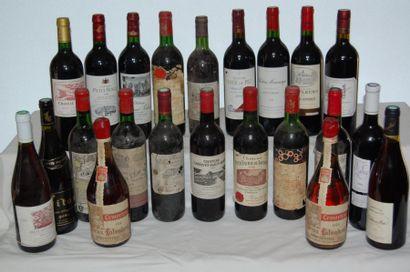 Un ensemble de vins Bordeaux et Bourgogne...