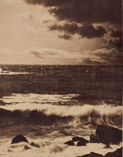 Gustave Le Gray (1820-1884) Grande Vague, Sète n°17, printemps 1857 Tirage albuminé...
